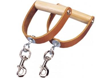 Premium Leather Swivel Handles